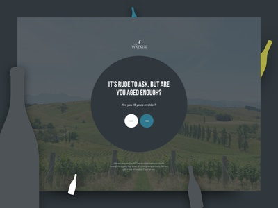 Wrekin – Age Verification website-design winery vineyard