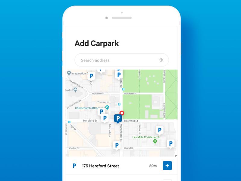 Parking App / Add Carpark mobile app ux ui app