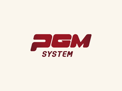 PGM System / Logo v2 logo dark red pgm system logotype webdevel