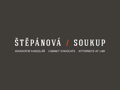 Stepanova/Soukup / Logotype v2 logo logotype attorneys brown law orange webdevel