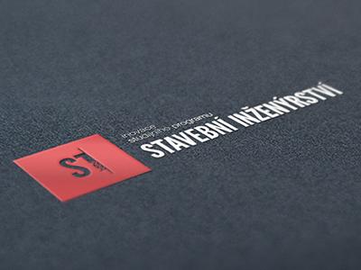 Stavební Inženýrství / Branding civil engineering logo branding red webdevel