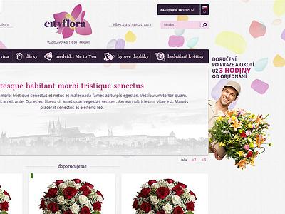 Cityflora / Homepage cityflora webdevel flower delivery ecommerce website