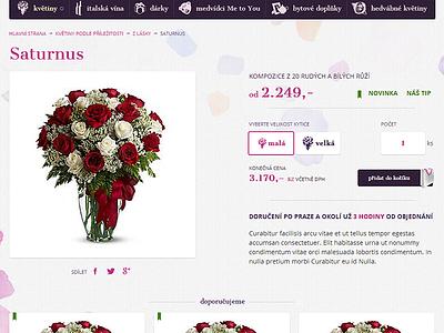 Cityflora / Product detail cityflora webdevel flower delivery detail ecommerce website