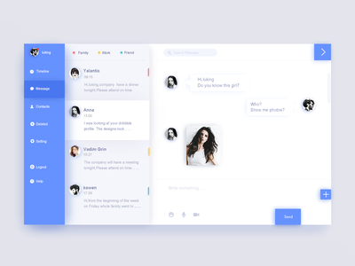 Chat interface design
