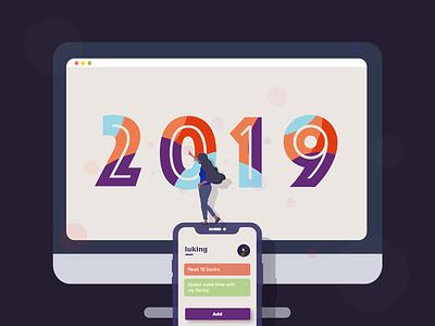 2019 iphone computer colors 2019 illustration design