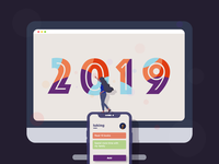 2019 iphone computer colors 2019 illustration design
