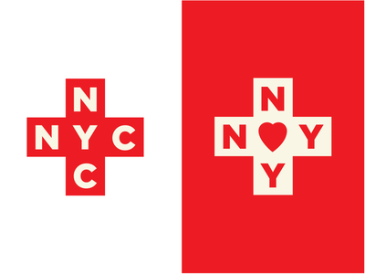NYC in the Coronavirus era identity nyc vector redcross cross illustration logo typography newyork red coronavirus