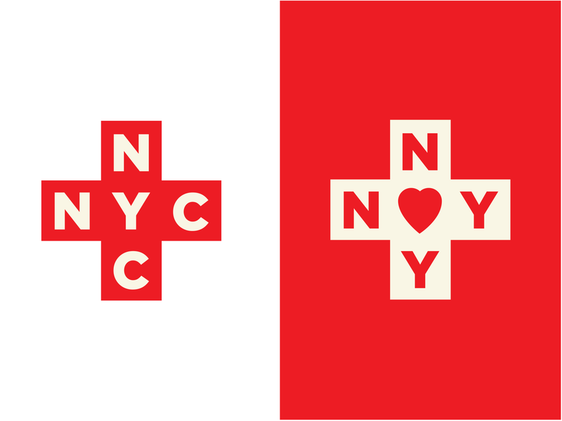NYC in the Coronavirus era identity nyc vector redcross cross illustration logo typography newyork red coronavirus