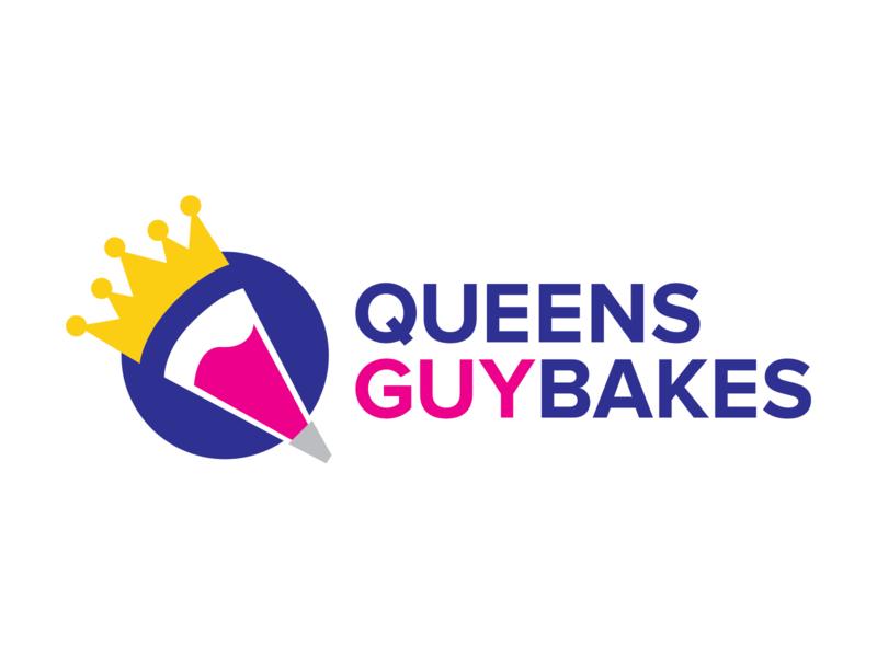 Queens Guy Bakes Final Identity Design typography vector crest icon illustration nyc design identity branding logo