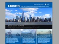DockNYC Website Concept vessel harbor yachts tugboat boating boats new york city ui design blue nyc identity typography branding webdesign website concept website design website