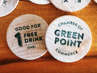 Greenpoint Chamber of Commerce Free Drink Tokens