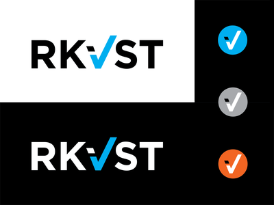 RKVST (Archivist) Final Identity datasharing data blockchain software check blue identity branding logo typography