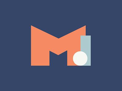 McMillian Design Identity Concept rebranding orange circle letterm letterd crest blue logomark logodesign icons vector design icon identity branding logo