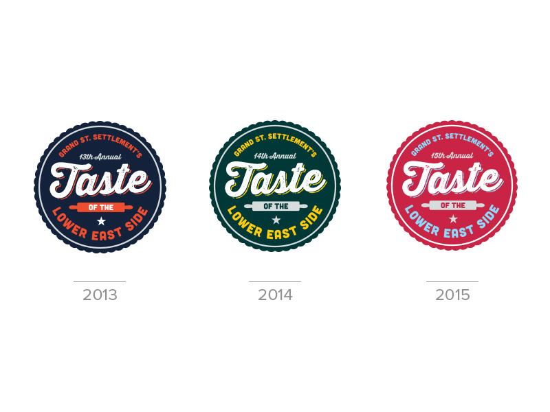 Taste of Lower East Side Logo logo nyc crest script color event logo new york city