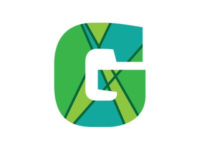 Greenpoint Chamber Icon g icon logo identity brooklyn branding green blue