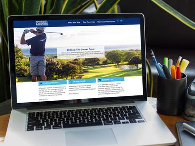 Sports & Leisure Research Group Site interactive design responsive golf design digital ux ui websites web design