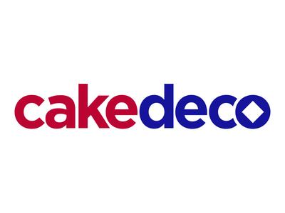 Cakedeco Rebrand cake bakers diamond modern clean blue red logo branding rebrand