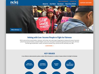 National Center For Law & Economic Justice Website wordpress colorful design redesign visual rethink rebrand clean website