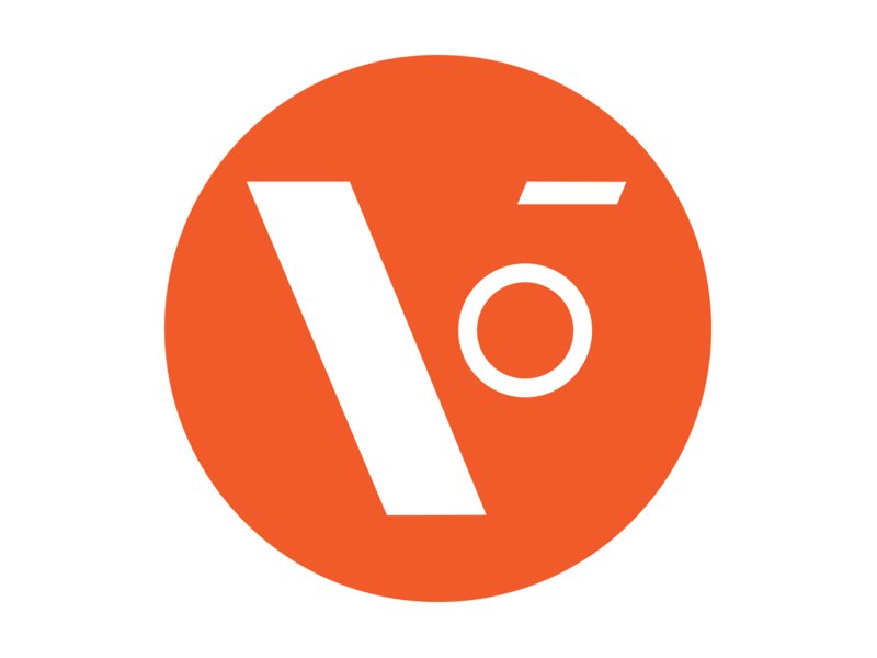 Vector Machines Identity Concept circle v orange design icon logo identity branding
