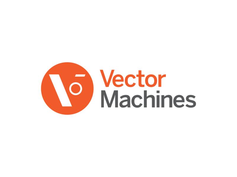 Vector Machines Identity orange v icon identity branding logo