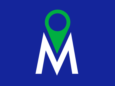 Metro Tours Icon Concept branding and identity branding concept branding agency branding futura nyc city tour travel site seeing map pins blue green m letter new york city tour guide
