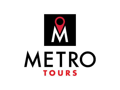 Metro Tours futura red black nyc identity branding logo