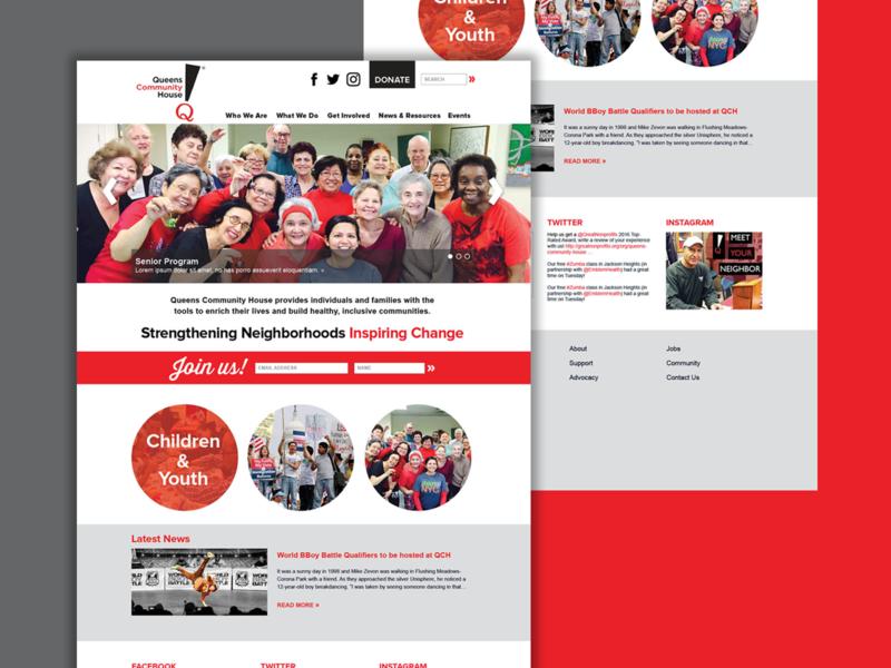 Queens Community House Website Concept clean web landingpage interface typography wordpress webdesign uidesign ui brand nonprofit website concept website