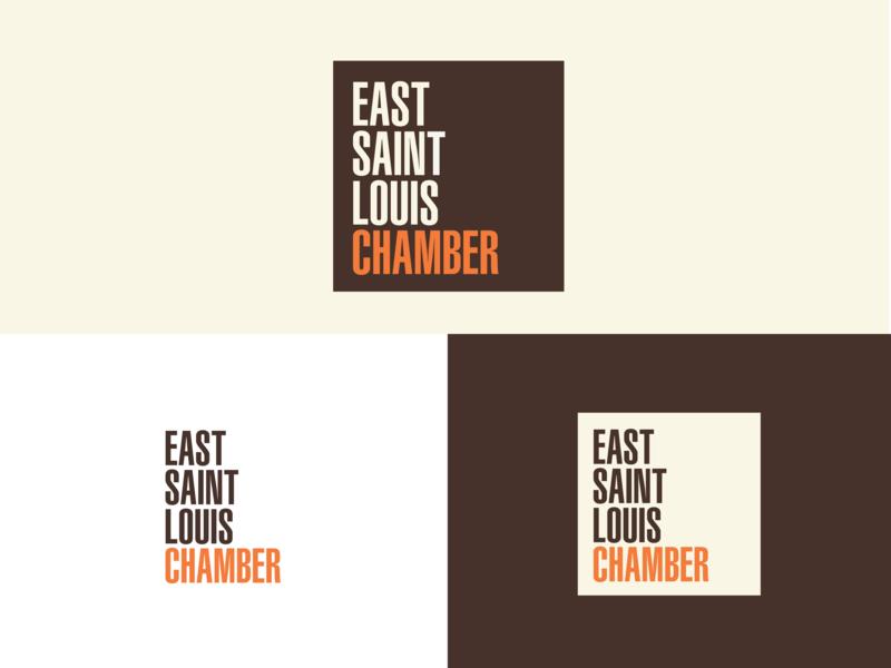 East St. Louis Chamber Branding Concept typography logotype logo design concept logo design logo identity designer identity design brand designer brand design brand identity branding