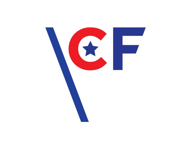 Consumer Freedom america flat c vector red blue typography identity branding logo flag