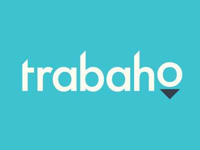 trabaho Identity Concept startup logo startup branding startup concept arrow futura blue identity typography branding logo video