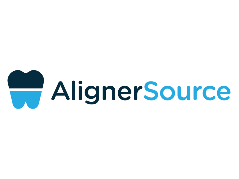 Aligner Source Concept product design typography icon blue identity logo illustration branding teeth tooth