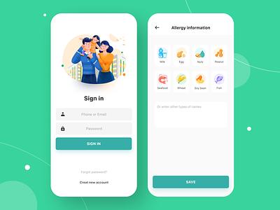 OneVinmec - Medical app app design login mobile vingroup onevinmec ui sign in pit patient vaccine medicine illustration healthcare app