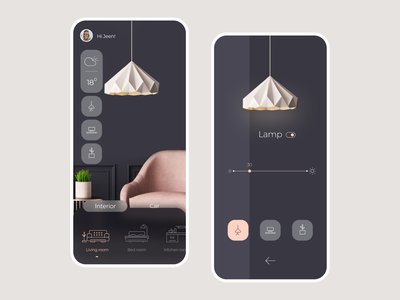 Smart Home App UI minimalist mobile ui app interaction smart home flat illustration pit studio pitstudio pit