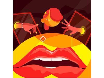 I am TUYET sketch drawing affinitydesigner vector cute character flat color illustration nooveetii