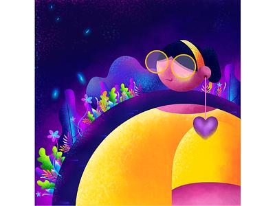 I am THARO cute affinitydesigner gradient vector character color flat illustration nooveetii