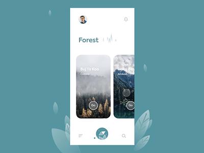 Traveling Explore App UI forest beach interface mobile app app pitstudio pit explore travel animation interaction interaction design uxuidesign ux design ui vector flat color illustration