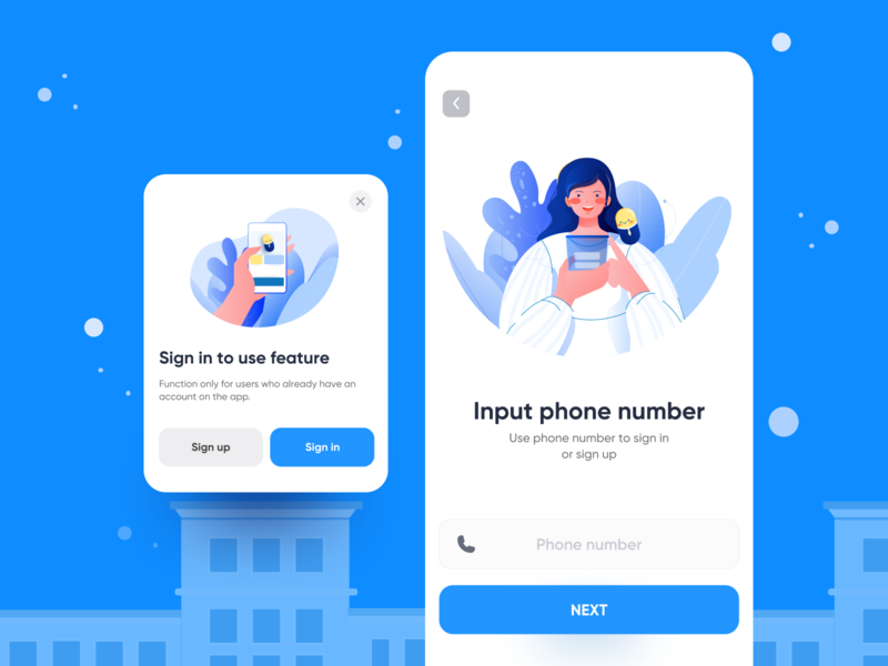 Medical app login sign in signup patient medicine app healthcare ui cute vector character illustration pitstudio pit medical