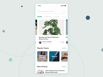 Tokopedia Blog Exploration flat design ui design mobile apps blog design apps interaction design article blog
