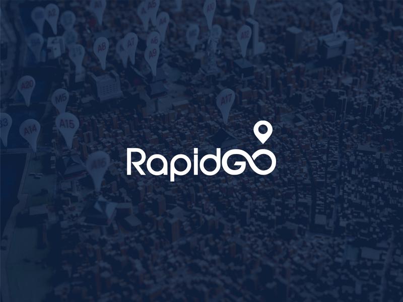 Logo Design for Rapidgo, Logistics Company logo design branding and identity branding logo truck logo logistics logo map marker logo infinity logo logo design branding corporate branding