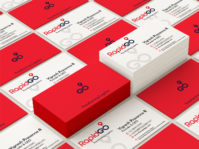 Branding for Rapidgo, Logistics Company | Business Card Design