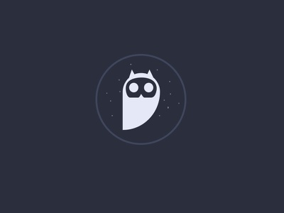 Owlmark logo owl logo night