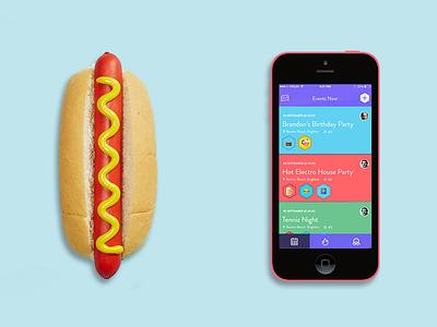 hotdog events hotdog iphone ui colorful