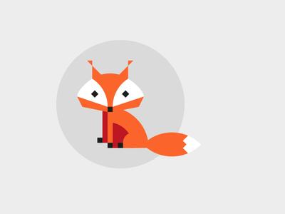 Foxy flat animal zoo shapes geometric foxes fox sweetheart illustration cute lovely