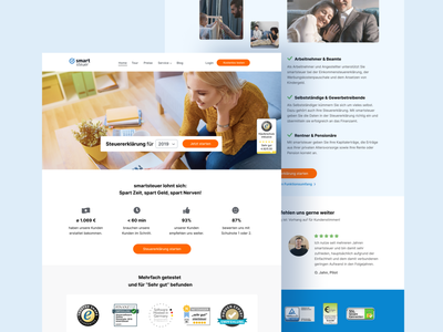 homepage for tax company tax landingpage homepage corporate website webdesign designsystem ux design ui