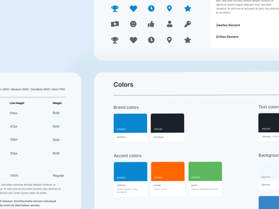 design system for tax company branding logo colorful ui forms typography colors buttons corporate designsystem design