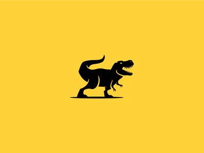 Roaring Rex icon predator masculine logo jurasic dinosaur modern branding flat twitch vector character mascot gaming minimal logo