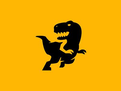 Raptor Dash negative space logo raptor dinosaur jurassic character branding flat modern vector gaming mascot minimal logo