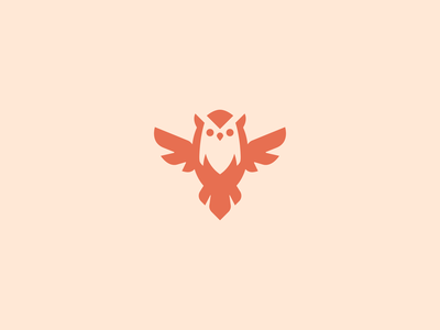 Minimalist Owl pet cute feminine clean minimalist bird owl design modern vector mascot minimal logo
