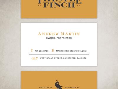 Unused Thistle Finch Distillery Card