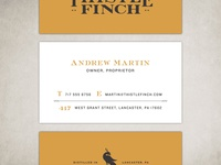 Unused Thistle Finch Distillery Card